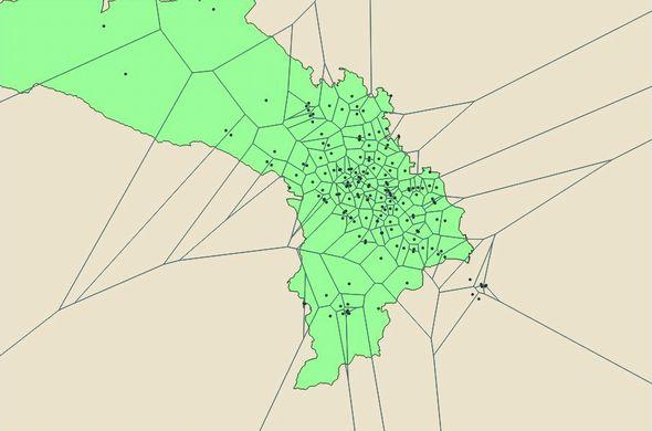 D3.js Voronoi Map