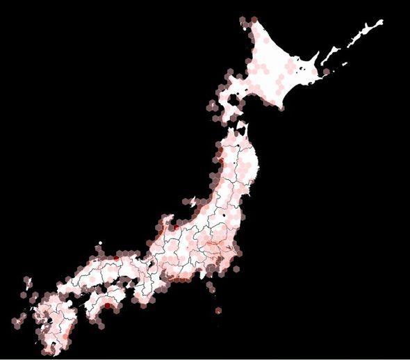 d3.js map hexbin