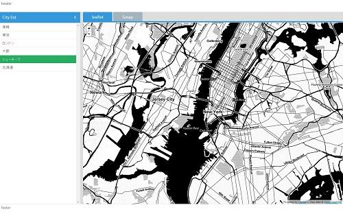 webix + map