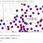 google map上に円グラフを表示する