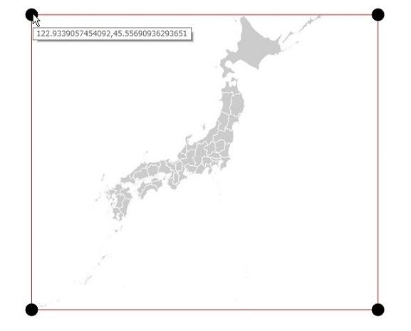 日本 境界ボックス