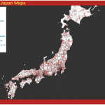 マクドナルド店舗数コロプレスマップ