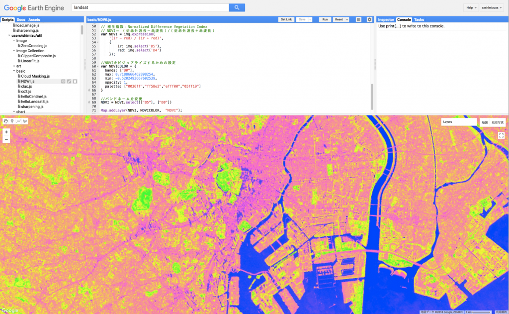google earth enginge ndvi